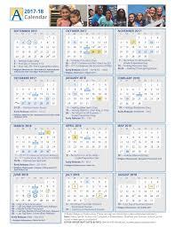 2017 18 School Year Color Calendar Arlington Public Schools