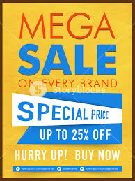 Creative Mega Sale Template Banner Or Flyer Design With