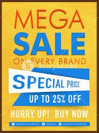 Special Offer Flyer Creative Mega Sale Template Banner Or Flyer Design With