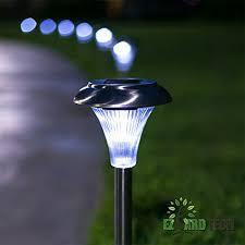 set of 10 6 lumen brightness stainless steel solar powered garden lights led outdoor