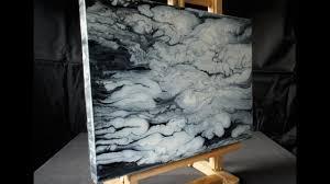 acrylmalerei demo fluid acrylic painting black white clouds abstract art by brigitte könig