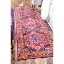nuloom persian medallion pink runner rug 2398 x 839 free pale pink runner rug