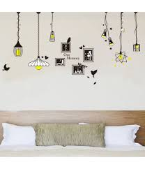 green wall sticker living room bedroom background wall creative chandelier wall stickers size 60cm by 90cm color black