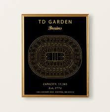 Cyclones Hockey Seating Chart Td Garden Seating Chart Boston Bruins Boston Bruins Poster