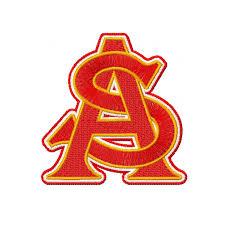 University Logo Embroidery Designs Arizona State University Embroidery Design Instant Download