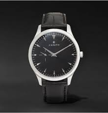 thin watches for men shopstyle zenith elite ultra thin 40mm stainless steel and alligator watch black