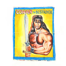 Vintage Ghana Movie Poster, Conan the Destroyer - Oct 03, 2018 | Leland  Little Auctions in NC