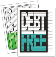 The Original Debt Free Chart Debt Free Charts