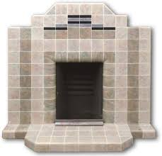 art deco tiled fireplace with mottled blue tiles 1175 20th century fires