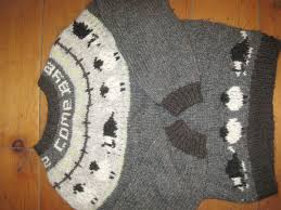 Border Collie Knitting Chart Great Border Collie Sweater I Made From Lopi Wool The