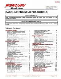 Mercruiser Prop Selection Chart Gasoline Engine Alpha Models Boatfix Com