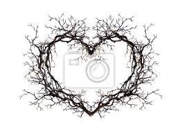 Obraz Tvar Srdce Věneček Z Větví Větvičky Akvarel Pro Design Tetování