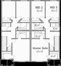 Duplex House Plans  Story Duplex Plans  Bedroom Duplex PlansUpper Floor Plan for D  Duplex house plans  story duplex plans
