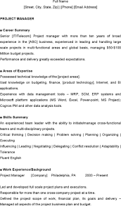 14 Project Manager Resume Template Free Download