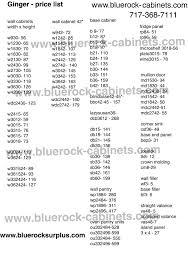 Kitchen Design Price List Superb Kitchen Cabinet Price List Ginger1 Pricelist7 1 09