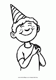 Small Picture Birthday Colouring Pages