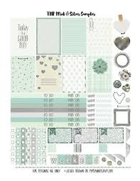 Printable Calendar Sample Classy Mint Silver Sampler Free Planner Printables Home Office
