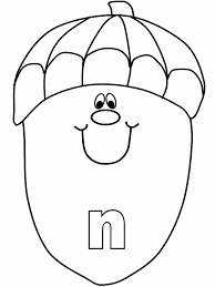 alphabet n coloring pages