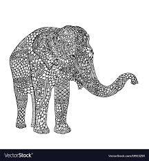 Elephant Pattern Interesting Elephant In Asian Style Mandala Pattern For Adult Vector Image