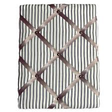 Fabric Covered Memo Board Extraordinary French Cotton Ticking Padded Fabric Pin Board Memo Board Personal
