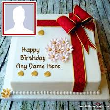 Create Happy Birthday Cake With Name And Photo