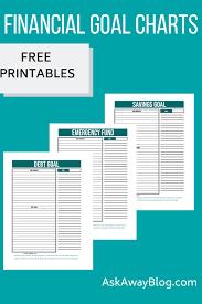 Ask Away Blog Free Printable Financial Goal Charts