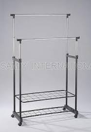 Cloth hanger stands Moveable Sam Yi International Co Ltd Sam Yi International Co Ltd Taiwan Clothes Trolley Clothes Cart Clothes Hanger Clothes Stand
