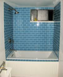 sky glass subway tile shower