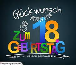 Sprüche Zum 18 Geburtstag Karte Mit Schönem Spruch Zum Nachdenken
