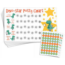 Potty Training Reward Chart With 189 Star Stickers For Toddler Boys Or Girls Dinosaur Theme Large 11 X 17 Size