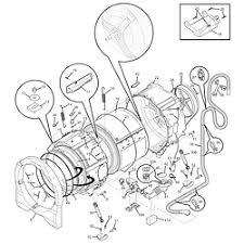 crosley washer parts model cfw4700lb0 sears partsdirect motor tub