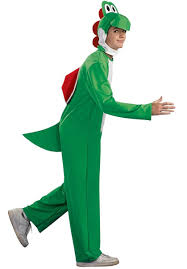Superior Yoshi Dinosaur All In One Costume  Video Gamer Outfit