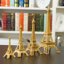 Eiffel Tower Home Decor Accessories Adorable New Gold Paris Eiffel Tower Miniature Figurine Figurine Room