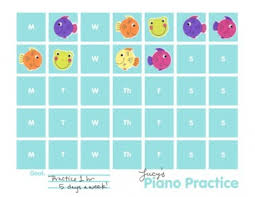 Piano Practice Chart Piano Practice Chart Printable Todays Mama