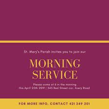 Church Invite Cards Template Customize 389 Church Invitation Templates Online Canva