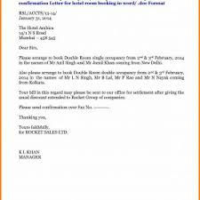 Letter Of Resignation Template Germany Fresh Letter Format For Hotel ...