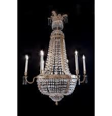 empire dore bronze crystal chandelier 6 lights empire dore bronze crystal chandelier