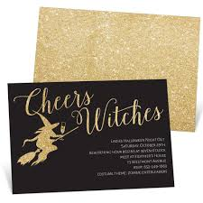 Halloween Invitations Cards Cheers Witches Halloween Invitation Pear Tree