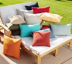 sunbrella contrast piped solid indoor outdoor pillow