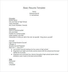 Resume Template High School Students High School Resume Free Word