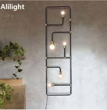 homemade lighting. Modern LED Wall Lamp Creative Lighting Light Entrance Hall Homemade Rustic Sconces Staircase Corridor Home Decor Fixtures-in Lamps From Lights