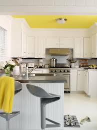 kitchen color scheme: Pale Yellow, Grey, White