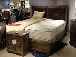 King Size Bed Frame With Leather Headboard Clearance 4 Piece Solid ...