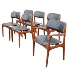 six vine danish erik buch teak chairs for oddense maskinsnedkeri side chairsmid century designteakdining tabledining