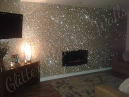 champagne gold glitter wallcovering
