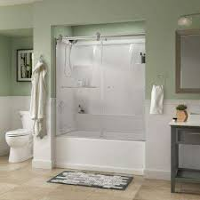 simplicity 60 in x 58 3 4 in semi frameless contemporary