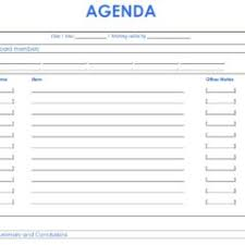 Sales Meeting Agenda Template With Blue Layout Duyudu