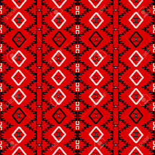 red carpet pattern. red carpet with ethnic motifs, seamless pattern canvas stock vector - 11878436 e