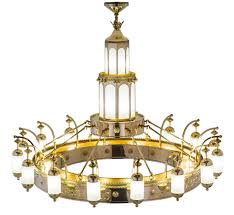 mosque 42 lt extra large arts crafts chandelier