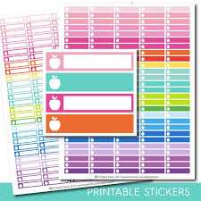 free office planner. Apple Stickers, Office Planner Work Printable Teacher School Stickers Free M